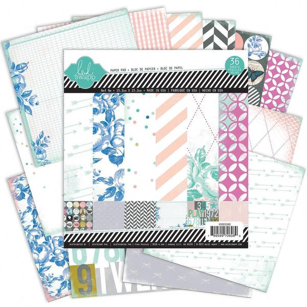 Mixed Company Paper Pad 6 X6 36/Sheets - 18 Single-Sided Designs/2 Each