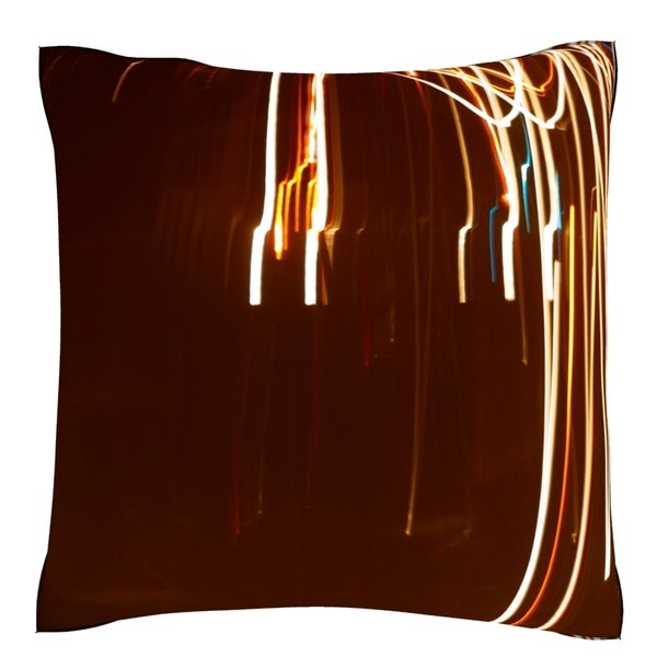 Abstract Light Exposure 18-inch Velour Throw Pillow