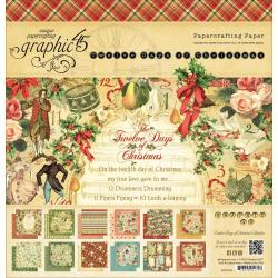 12 Days Of Christmas Double-Sided Paper Pad 12 X12 - 24 Sheets -12 Designs/2 Each