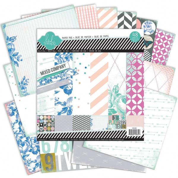 Mixed Company Paper Pad 12 X12 48/Sheets - 24 Single-Sided Designs/2 Each