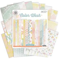 Color Wash Paper Pad 6 X6 36/Sheets - 18 Single-Sided Designs/2 Each