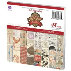 Allstar Paper Pad 6 X6 48/Sheets - 16 Single-Sided Patterns/3 Each
