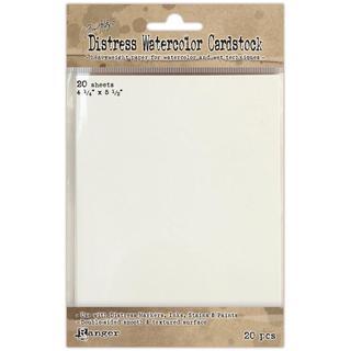 Ranger Distress Watercolor Cardstock 20/Pkg - 4.25 X5.5