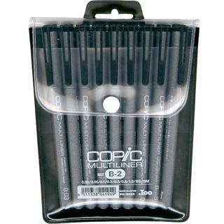 Copic Multiliner Black Ink Pens 9/Pkg - Set B-2