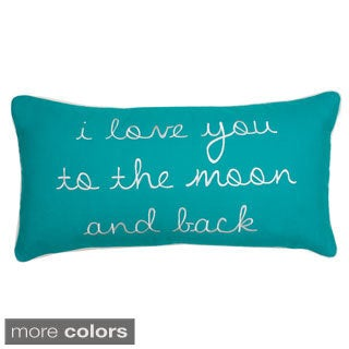 To The Moon and Back Down Fill Pillow
