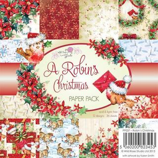 Wild Rose Studio Ltd. 6 X6 Paper Pack 36/Sheets - A Robin's Christmas