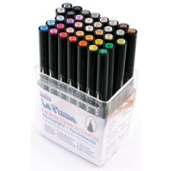 Le Plume Permanent Fine Brush Markers 36/Pkg -