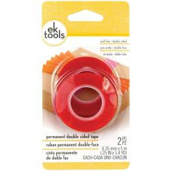 Permanent Double-Sided Tape 2/Pkg - .25 X5.4yd Each