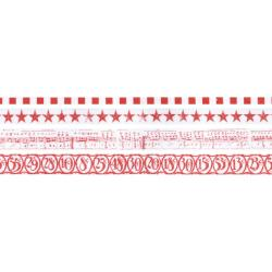 Idea-Ology Tissue Tape 4 Styles/10 Yards Each - Merriment Red
