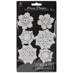 Crochet Doilies 6/Pkg - Round, White