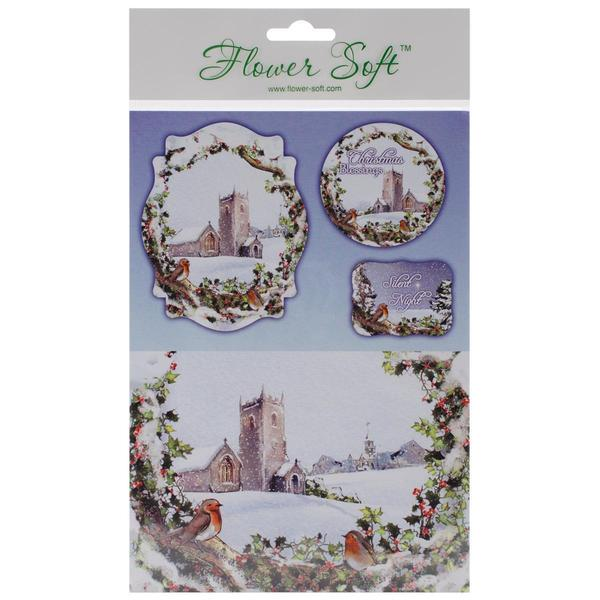 Katy Sue Designs Card Toppers & Background Scenes 8/Pkg - Winter Country