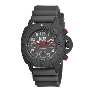 Mos Men's New York Grey Silicone Grey Dial Chronograph Analog Watch
