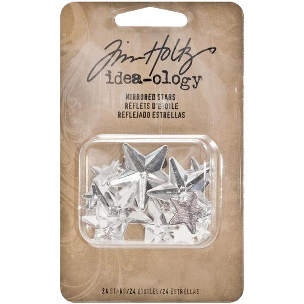 Idea-Ology Mirrored Stars 24/Pkg - Clear Assorted Sizes .25 To 1