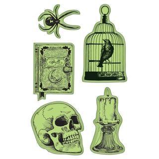 Inkadinkado Halloween Cling Stamp 4 X6 Sheet - Nevermore