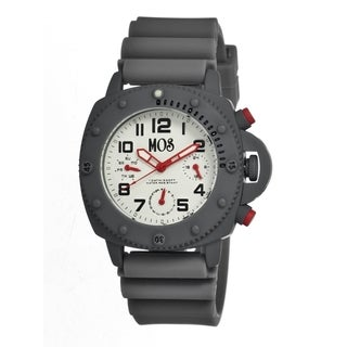 Mos Men's New York Grey Silicone White Dial Analog Watch