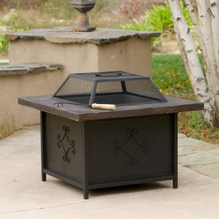 Kerman Outdoor 30 inch x 30 inch Black Copper Fire Pit