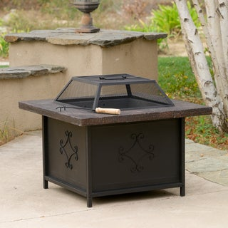 Christopher Knight Home Kerman Outdoor 30 inch x 30 inch Black Copper Fire Pit