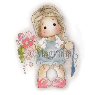 Special Moments Cling Stamp 3.75 X6.5 Package - Tilda Binding Flowers