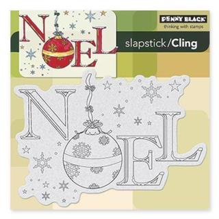Penny Black Cling Rubber Stamp 5 X5 Sheet - Ornamental Noel