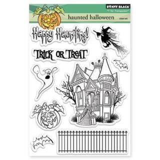 Penny Black Clear Stamps 5 X6.5 Sheet - Haunted Halloween