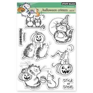 Penny Black Clear Stamps 5 X6.5 Sheet - Halloween Critters
