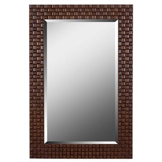 Brown Intertwining Weaver Vertical Wall Mirror