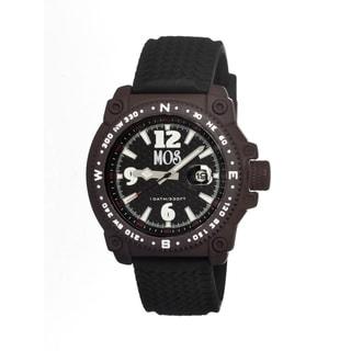 Mos Men's Monterey Black Silicone Brown Bezel Analog Watch