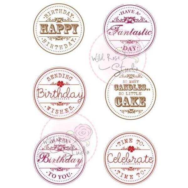 Wild Rose Studio Ltd. Clear Stamp 3.5 X3 Sheet - Birthday Circles