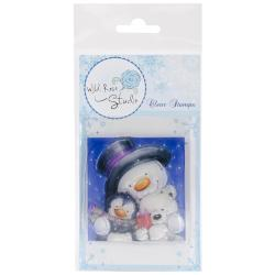 Wild Rose Studio Ltd. Clear Stamp 3.5 X3 Sheet - Snowman Hugs