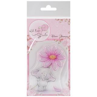 Wild Rose Studio Ltd. Clear Stamp 3.5 X3 Sheet - Bella W/Daisy