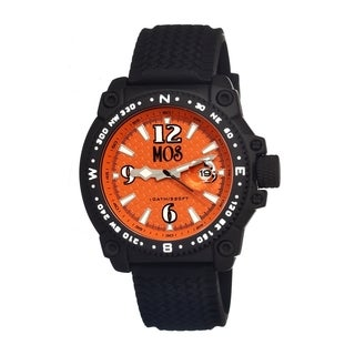 Mos Men's Monterey Orange Dial Black Silicone Analog Watch