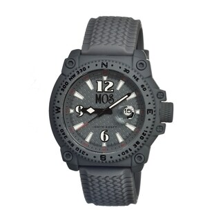 Mos Men's Monterey Grey Silicone Grey Dial Analog Watch