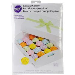 Cupcake Box Folding Tray - 24 Cavity White 1/Pkg