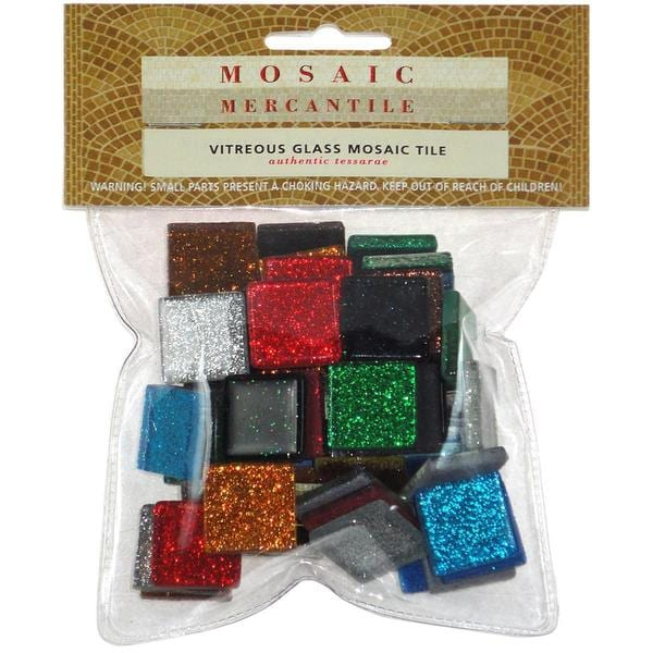 Vitreous Glass Mosaic Tile .5lb - Assorted