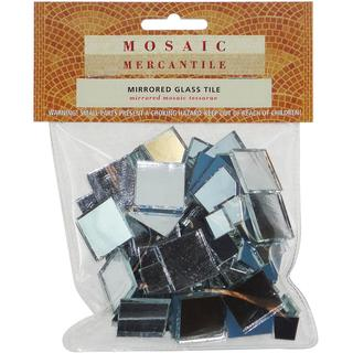 Mirrored Glass Tile 100/Pkg - Square Assorted