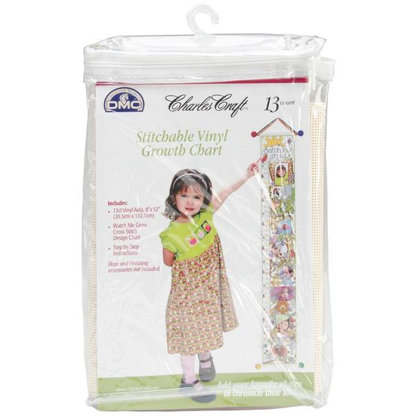 Ready To Stitch Baby Collection Vinyl Growth Chart 8 X52 - White 13 Count
