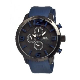 Mos Men's Milan Black Dial Navy Silicone Analog Chronograph Watch