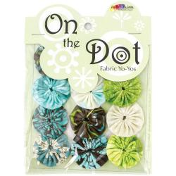 Fabric Palette On The Dot Yo-Yos 1.5 100 Cotton 10/Pkg - Zinnia Blue