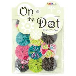 Fabric Palette On The Dot Yo-Yos 1.5 100 Cotton 10/Pkg - Kingston