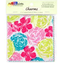 Fabric Palette Charm Pack 5 X5 Cuts 100 Cotton 20/Pkg - Kingston