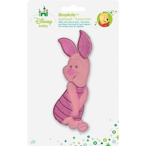 Disney Winnie The Pooh Piglet Posing Iron-On Applique -