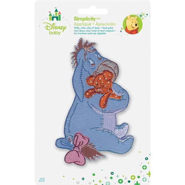 Disney Winnie The Pooh Eeyore W/Bear Iron-On Applique -