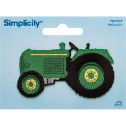 Green Tractor Iron On Applique - 3 X1-3/4 1/Pkg