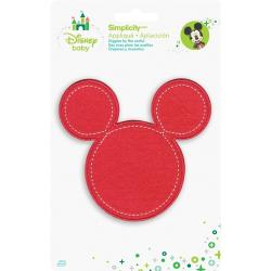 Disney Mickey Mouse Minnie Pink Silhouette Iron-On Applique -