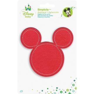 Disney Mickey Mouse Minnie Pink Silhouette Iron-On Applique -