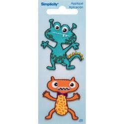 Monsters Iron On Applique - 1-3/4 X2 2/Pkg