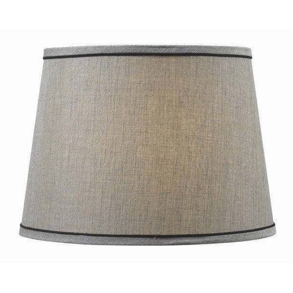 Design Match 15-inch Silver Tapered Drum Shade