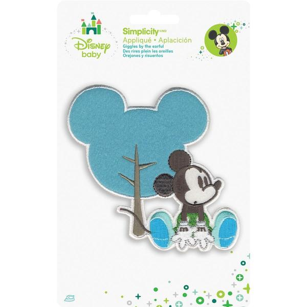 Disney Mickey Mouse Mickey W/Silhouette Iron-On Applique -