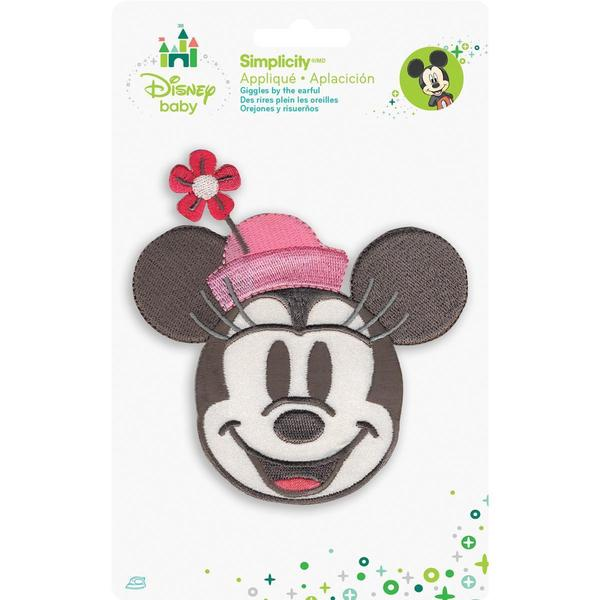Disney Mickey Mouse Minnie Head Iron-On Applique -