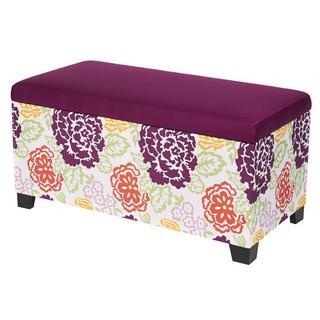 Floral Storage Bench